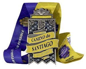 Camino de Santiago Virtual Challenge finisher medal