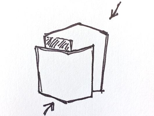 DesignHammer logo sketch
